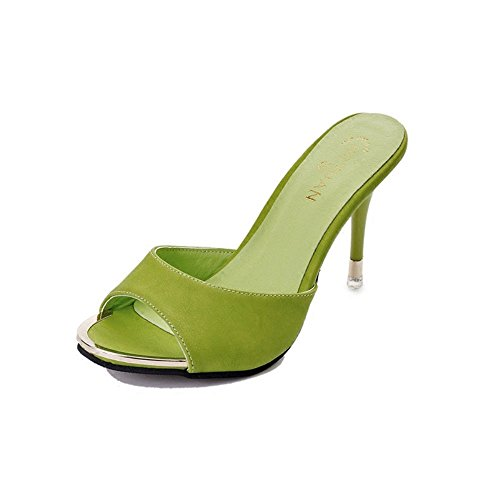 IANGL Verde Pantofole Pesce Bocchino e Trentasette Sexy per rw70qxpr