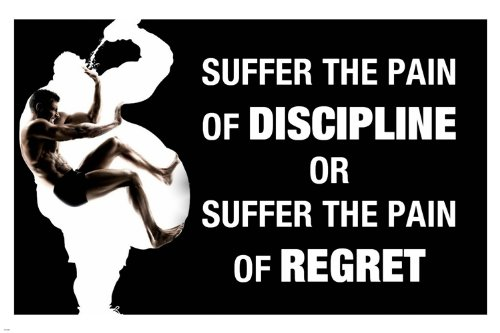 Pain Discipline quote motivational poster work out Inspirational