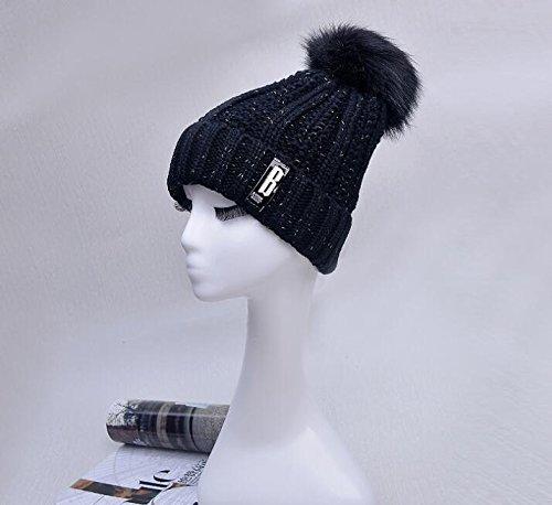 Chalier Winter Baggy Knit Pom Pom Hat Slouchy Beanie Hats for Men & Women