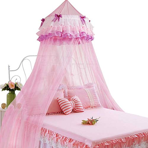 QNJM Round Dome Netting Curtains Mosquito Net Bed Canopy Play Tent, Mosquito Net for Bed Kids Playing/Reading, Height 290cm