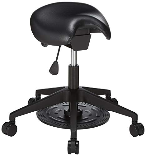 - Safco 3438BL Saddle Seat Lab Stool Adjustable-Home-Desk-Chairs Black