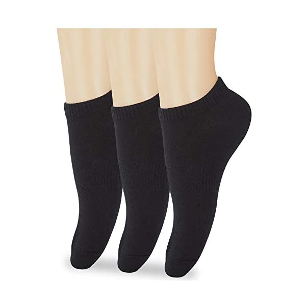 Athletic Low Cut Socks for Women, 3 to 12 Pairs Cotton Casual Ankle No Show Socks Black White Yellow Grey Socks for Ladies