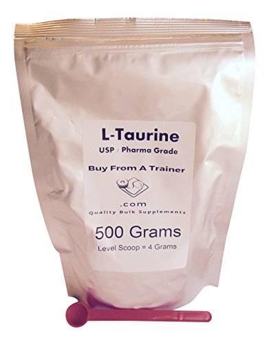 500g Taurine Pure Powder Amino Acid 1/2 Kilo Kilogram 500 Grams Energy Stamina