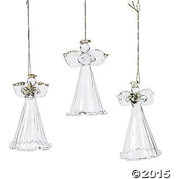 Amazoncom Lot of 12 Dancing Tin Angels Christmas Tree Ornaments