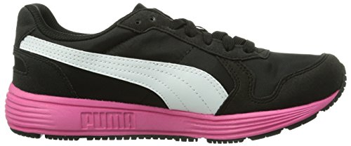 Puma St Runner - Zapatillas unisex Schwarz (black-white-fuchsia purple 06)