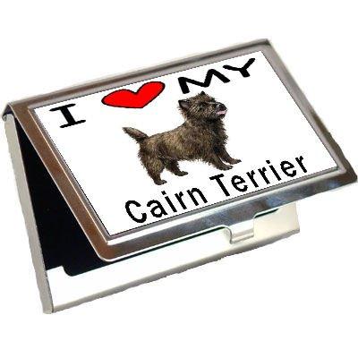 I Love My Cairn Terrier Business Card Holder ()