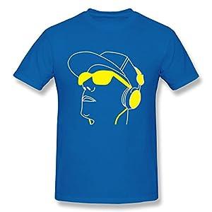 Men Head Mitch Nerd Glasses Geek Face Eyes T-shirts,RoyalBlue Tee By HGiorgis XXL RoyalBlue