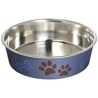 Loving Pets Metallic Bella Bowl, Large, Blueberry