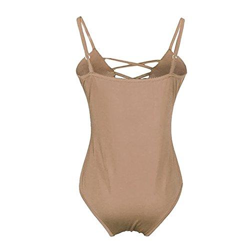 6b212789f6 Stevenurr Women's Swimwear One Piece Swimsuit Push Up Bikini Bathing Suit  (M, Khaki)