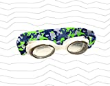 Splash 'CAMO' Swim Goggles - Fun Fashionable Comfortable - Fits Kids & Adults - Won't Pull Your Hair - Easy to Use - High Visibility Anti-Fog Lenses - Patent Pending