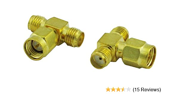 Super Power Supply/® 2 Pack SMB Female to SMA Female RF Adapter Coax Coaxial Connector