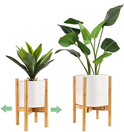 surplex support de pot de fleur milieu du siecle en bois support pour plantes reglable moderne pour salon jardin balcon coin porte pot plante