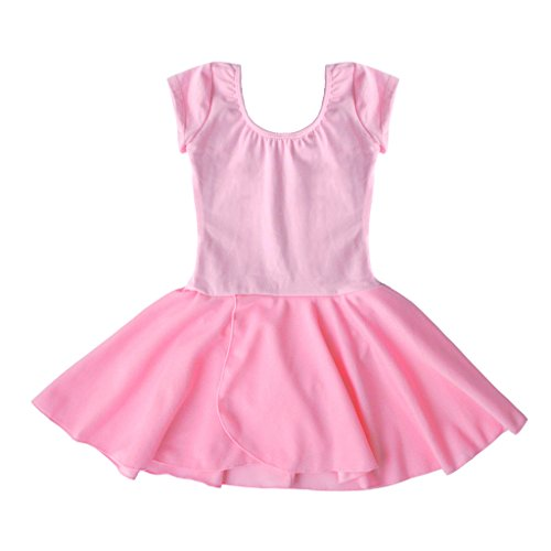 Dancina-Girls-Classic-Leotard-Dress-Short-Sleeve-Cotton-and-Spandex