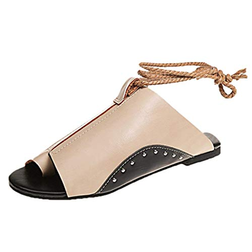 Tantisy ♣↭♣ Women's Balla Wedge Sandal Crisscross Strappy Buckle Cutout Stacked Low Wedge Sandal Khaki (Periwinkle Cross)