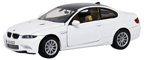New Motormax - 2008 BMW M3 Coupe Alpine White Die-Cast Model 1:24 - - Coupe Diecast