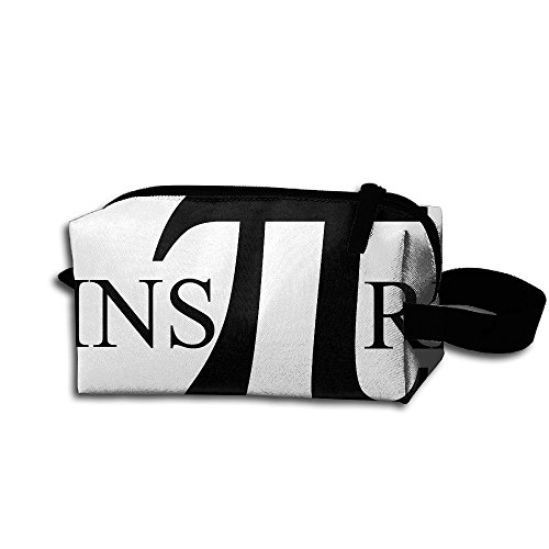 Makeup Cosmetic Bag Math Puns-Inspire Numbers Zip Travel