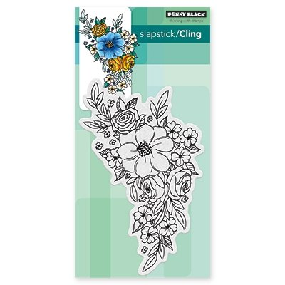 - Penny Black Flower Cascade Cling Unmounted Rubber Stamp (40-466)