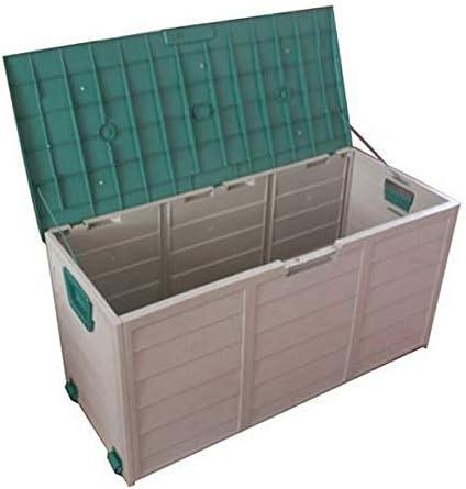 屋外収納 ロッカー 屋外のガーデンツールキャビネットロック可能なストレージデッキボックス日、バルコニー庭用防水 デッキボックス (色 : 緑, Size : 112x48x54cm)
