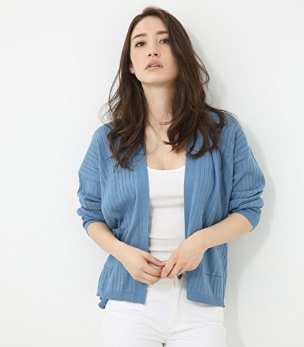 【AZUL BY MOUSSY】ワイドリブショートカーデ