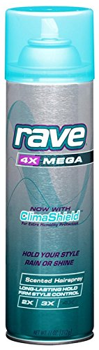 4x Mega Hair Spray Aerosol - Rave Scented Hairspray 4X Mega