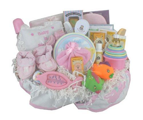 Everything Bath Time Gift Basket Pink