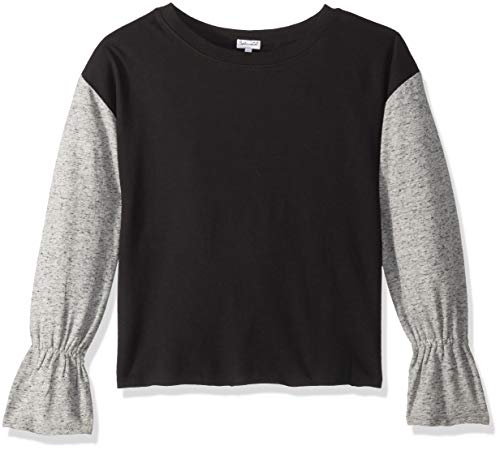 Splendid Big Girls' Kids and Baby Long Sleeve Pullover Sweater, Bell Black, 14 (Bell Lightweight Sweater)