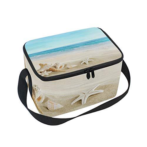 Plage Seashell pour déjeuner Boîte de Sac Bandoulière lunch à étoile nique Cooler mer à Tropical pique fwBxxt1