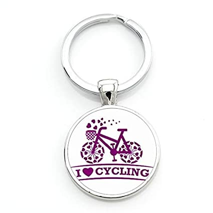 Key Chains - New Arrival I Love My Bike Keychain Vintage Bicycle Bike Art  Cycling Sports a8aa7c7d7a