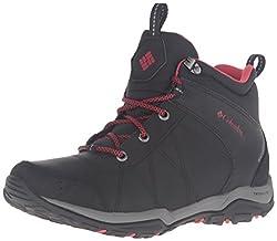 Columbia Women S Fire Venture Mid Waterproof W Hiking Boots Black Burnt Henna 10 M Us