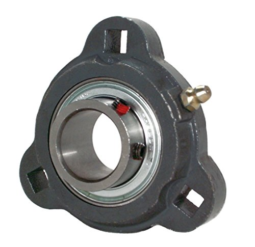 Peer Bearing PER   FHF3X205-25MM 3 Bolt Flange Unit, Ductile Iron, Narrow Inner Ring, Non-Relubricable, Eccentric Locking Collar, Metric, Single Lip Seals, 25 mm Bore, 3
