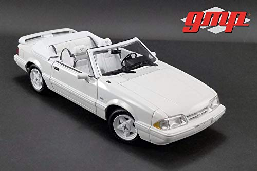 (GMP 1993 Ford Mustang LX 5.0L Convertible, Vibrant White 18824 - 1/18 Scale Diecast Model Toy Car)