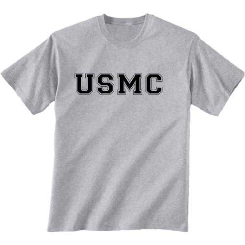 s Short Sleeve T-Shirt in gray - Medium (Marines Grey Physical Training T-shirt)