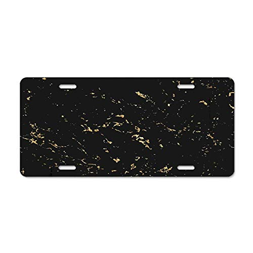 Marble Gold Patina Scratch Golden Sketch to Create Distressed Effect Overlay Distress Grain Graphic Customized Car License Plate Cover Car Tag Cover Durable Aluminum License Plate - Autumn Patina
