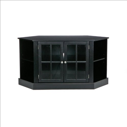 Southern Enterprises Jayce Corner Media Stand in Black