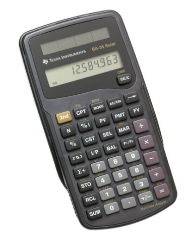 Texas Instruments BA35 Solar Calculator