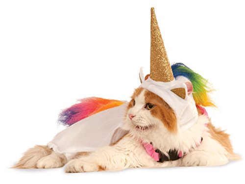 Rubies Costume Company Unicorn Cape with Hood and Light-Up Collar Pet Costume, Small
