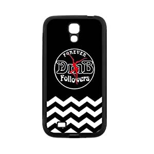 LeonardCustom- Dave Matthews Band Fire Dancer Rubber Hard Silicone Skins Covers Cases for Samsung Galaxy SIV S4 [Black / White] -LCS4U445