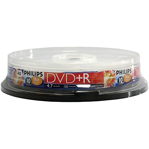 HOODR4S6B10F - PHILIPS DR4S6B10F 17 4.7GB 16x DVD+Rs (10-ct Cake Box Spindle) from PHILIPS