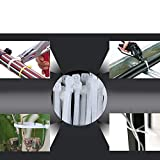 Xingo 8 Inch Nylon Cable Zip Ties with Self-Locking 6 Colors 120Pieces Assorted