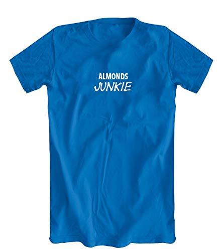 Almonds Junkie T-Shirt, Men's, Blue - Medium
