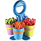 Westcott School Scissor Caddy and Kids Scissors With Anti-microbial Protection, 24 Scissors and 1 Caddy, 5-Inch Pointed (14755)