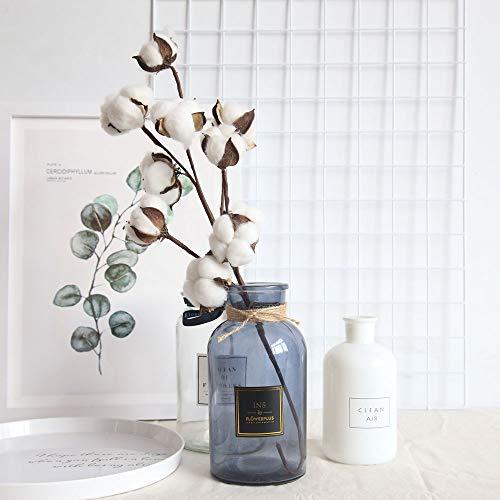 FORESTIME-1PCS-Naturally-Dried-Cotton-Stems-Flower-Farmhouse-Style-Artificial-Flower-Filler-Floral-Decor-Cotton-Floral-White-21-cm