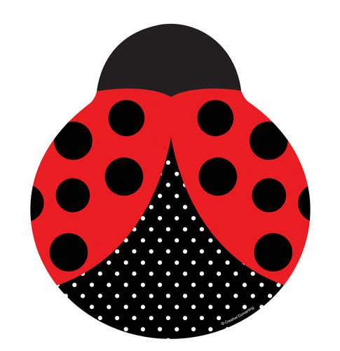 Creative Converting Ladybug Fancy Shaped 9-Inch Dinner Plates, 8-Count