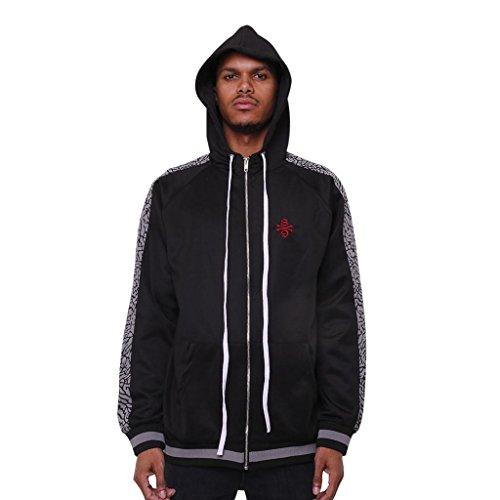 AME Jordan 3 Black Cement Track Jacket | Double Stripe Mens Hoodie | Streetwear Sneaker Match