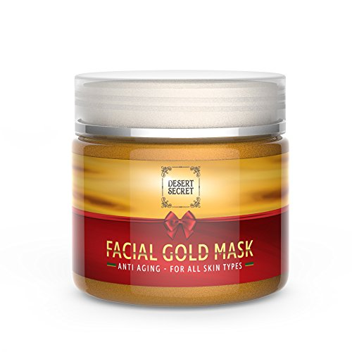 Anti Aging Gold Mask for Face & Neck | Luxury Firming Treatment Reduces Wrinkles | Powerful Formula For Tightening, Lifting, Brightening, Cleansing & Moisturizing | 5.29 oz/150 grams |by Desert - Anti Aging Lifting Mask Treatment