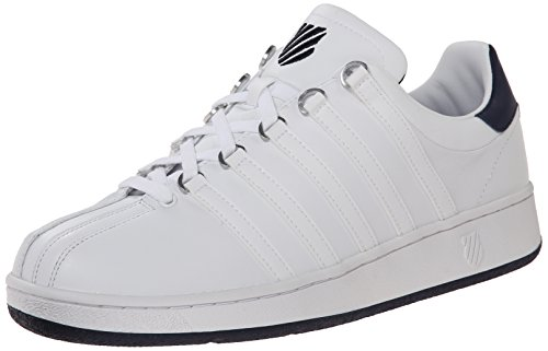 K-SWISS Men's Classic Vintage Updated Iconic Shoe, White/
