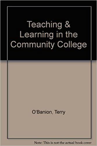 Book Teaching & Learning in the Community College by Terry O'Banion (1994-06-03)