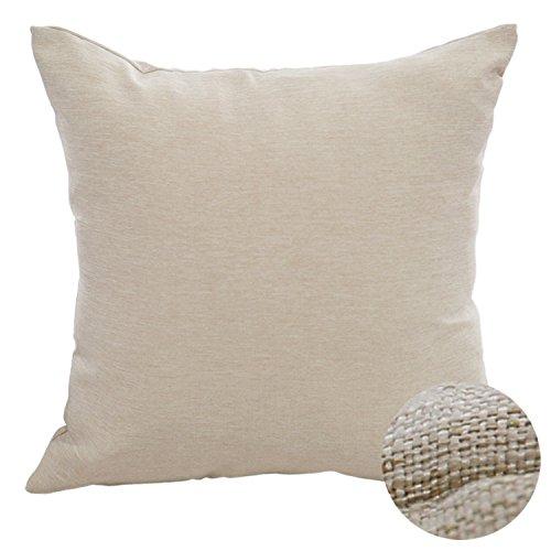 Deconovo Throw Pillow Cover for Sofa Faux Linen Pillow Case