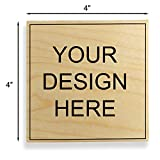 Custom Art Mount Rubber Stamp. Max. Image Size: 4'' high x 4'' Wide (101mm x 101mm) - Many Sizes to Choose from - Upload Your Own Artwork