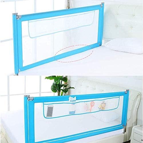 子供のためのベッドレールはツインベッドダブルクイーンとキングサイズのベッドに適し、ベッドレールバンパー、複数の色を折るとベッド手すりのサイズ (Color : Gray, Size : 1.5m)